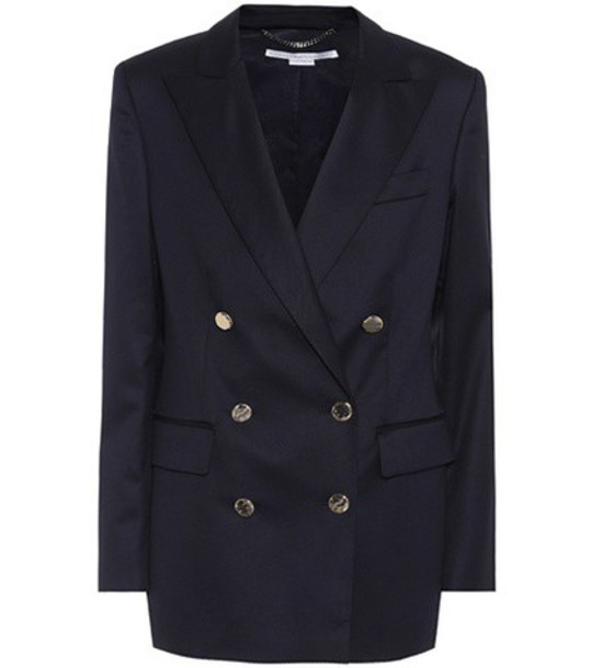 Stella McCartney blazer wool blue jacket