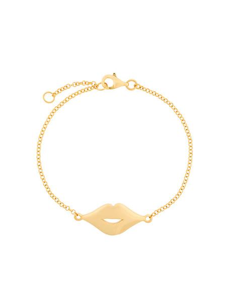 True Rocks women lips gold grey metallic jewels