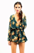 Green rose playsuit
