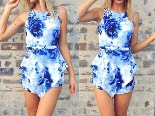 dress blue dress crop tops symmetrical classy