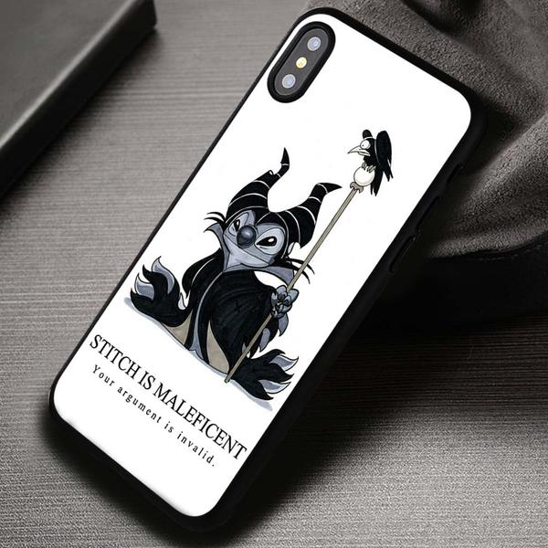 Funny Cartoon Quote Stitch Maleficent - iPhone X 8  7 6s SE Cases & Covers #iPhoneX