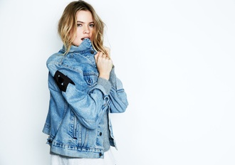 jacket denim jacket denim jeans behati prinsloo