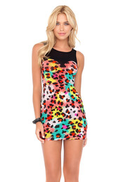 dress,luli fama,bodycon dress,leopard print dress,bikiniluxe,summer dress,multicolor