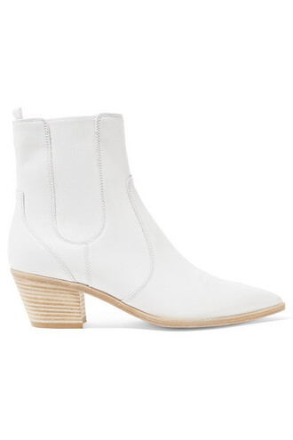 chelsea boots leather white shoes
