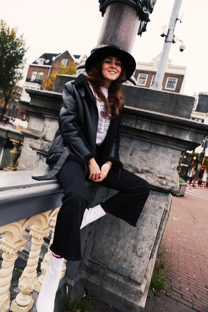 style scrapbook blogger sweater jacket hat shoes bag