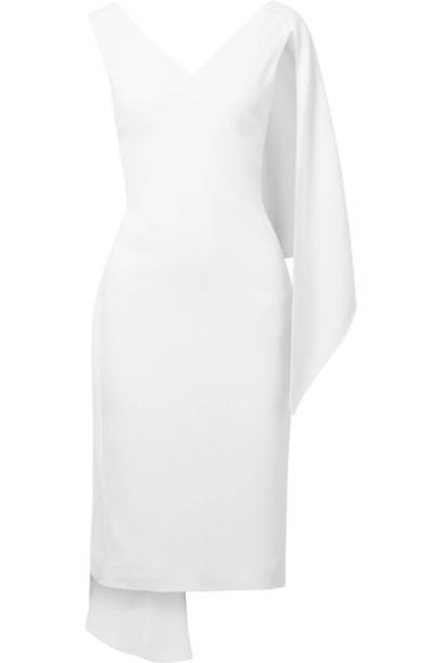 cushnie et ochs dress midi dress midi draped white