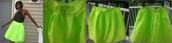 skirt,fuller skirt,aliexpress,neon,neon green skirt,neon green,midi skirt,skater skirt,free shipping