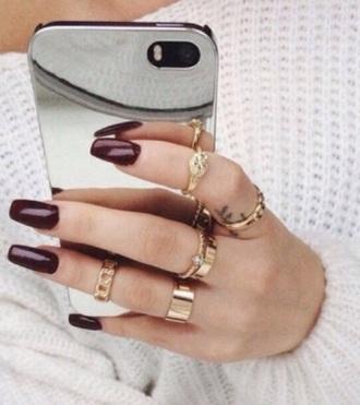 phone case iphone 6 case mirror nail polish
