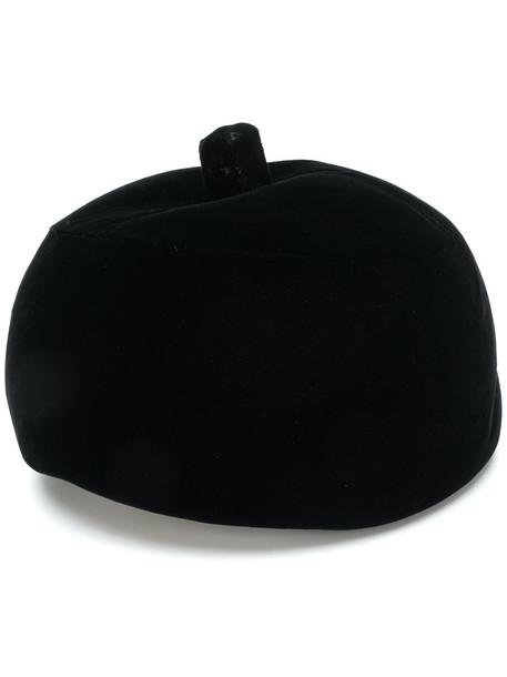 Balenciaga Vintage women hat black velvet