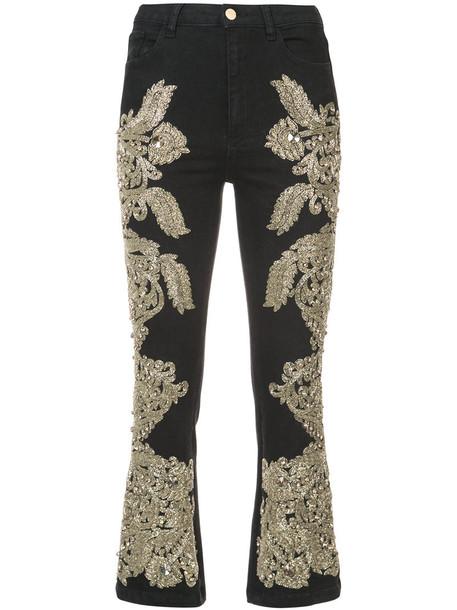 Amen jeans women spandex embellished cotton black