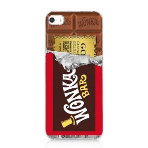 Amazon.com: Willy Wonka Golden Ticket Chocolate Bar Case Cover for Iphone 5 5s New 2013: Cell Phones & Accessories