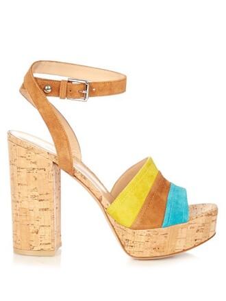 heel sandals platform sandals suede shoes