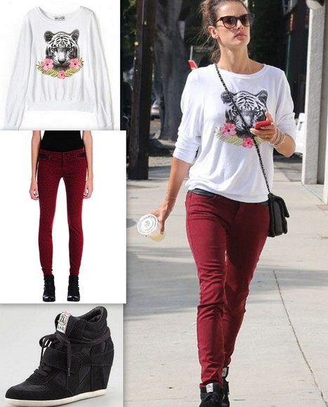 alessandra ambrosio shoes shirt