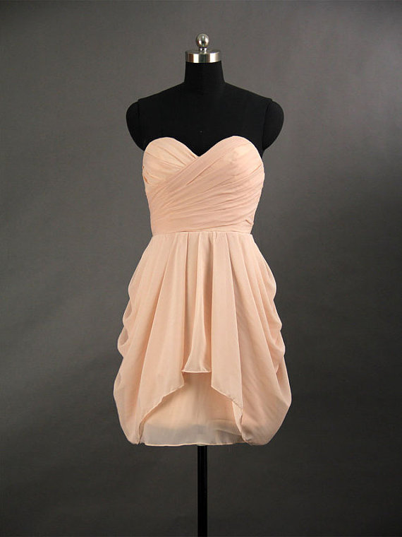 2013 simple chiffon short prom dress by fashionpromdresses on etsy