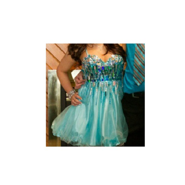 dress blue dress blue teal dress crystal sky blue dress prom dress tulle dress tulle skirt teal rhinestones dress homecoming dress black prom dress