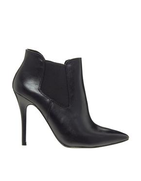ALDO | ALDO Floivon Black Pointed Heeled Chelsea Boots at ASOS