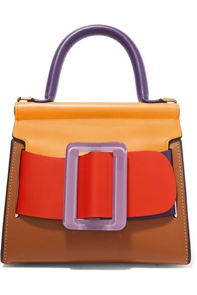 BOYY - Karl 19 mini buckled color-block leather shoulder bag