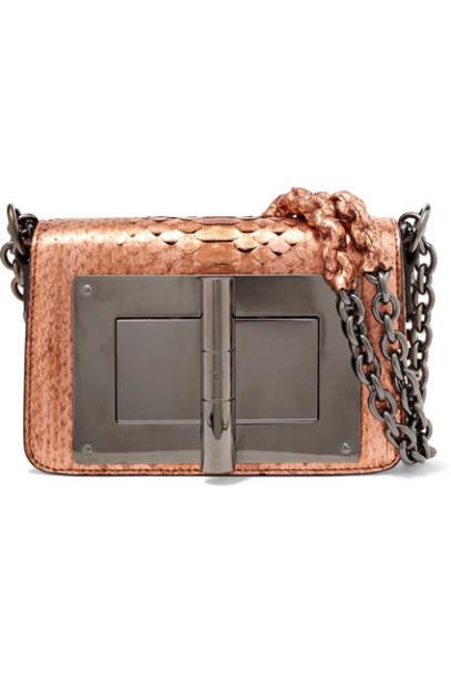 Tom Ford metallic python bag shoulder bag bronze