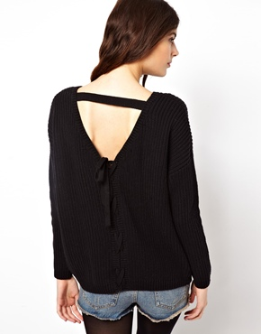 ASOS | ASOS Jumper With Lace Up Back Detail at ASOS