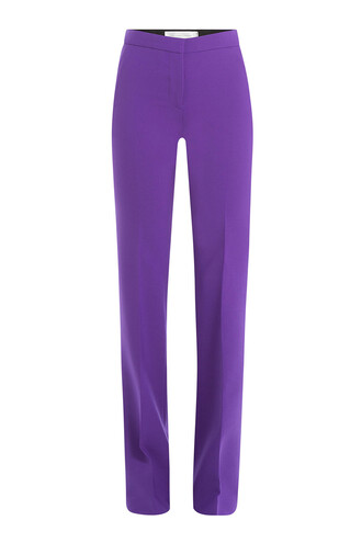 pants wool purple