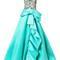 Marchesa - floral embroidery flared gown - women - silk/nylon - 10, blue, silk/nylon