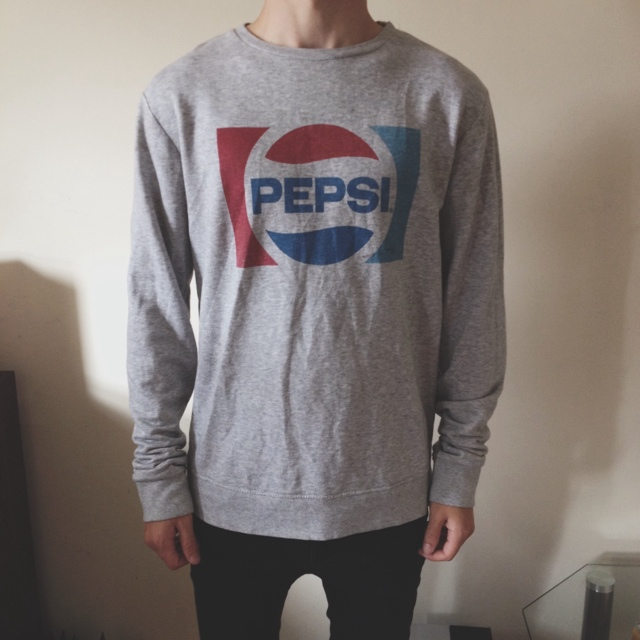 Grey vintage pepsi jumper