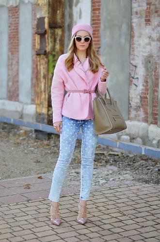 oh my vogue jacket belt pants hat jeans shoes bag sunglasses jewels nail polish