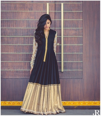 black dress indian dress