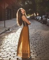 skirt,yellow skirt,boho skirt,long skirt,mustard,hippie,bohemian,blouse