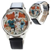 jewels,fox,watch,bracelets,black