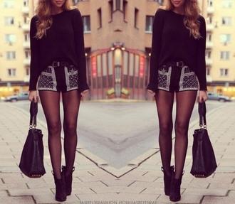 blouse style fashion skirt pantyhose bag tights