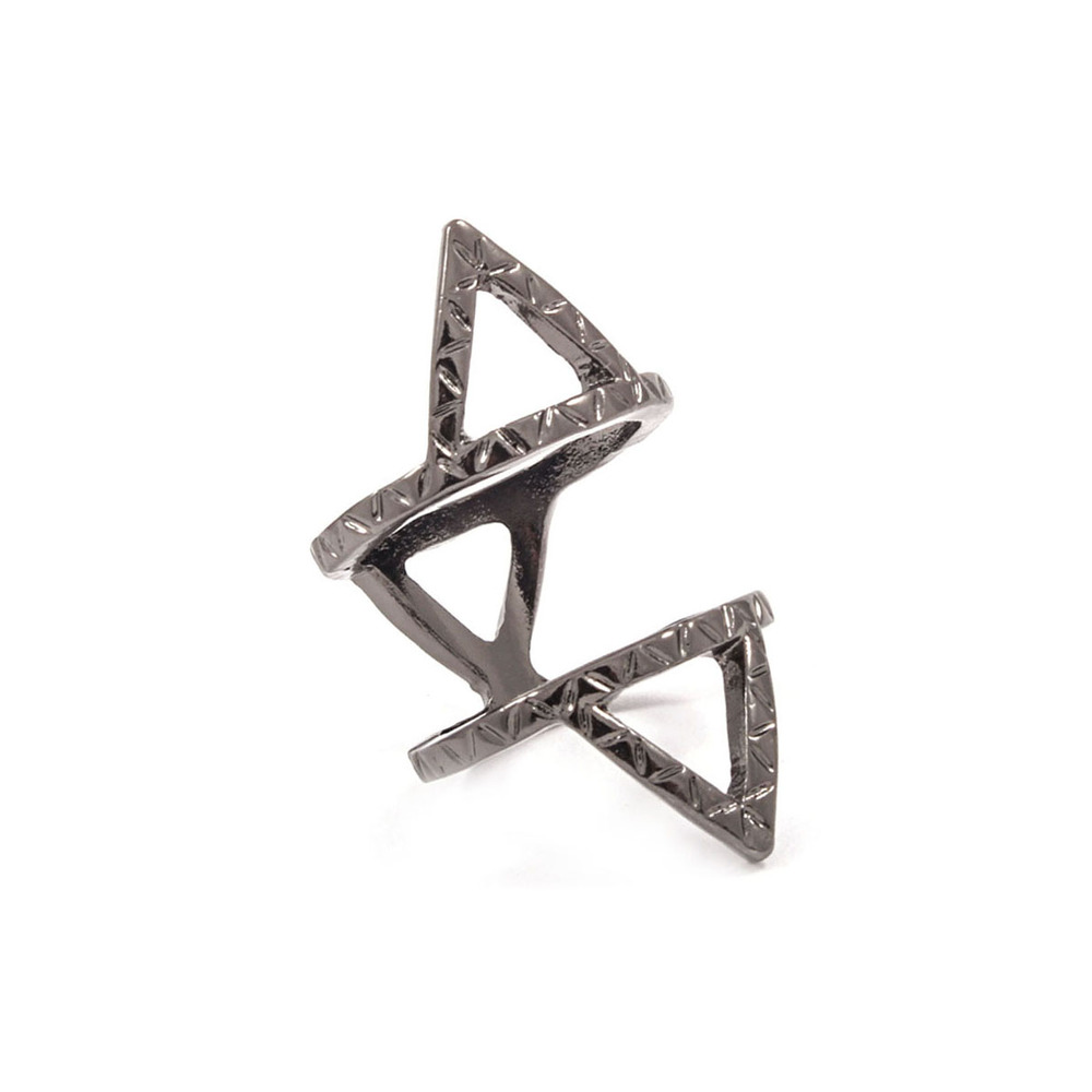 Triangular Geo Knuckle Ring