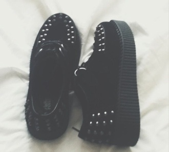 creepers studs studded shoes