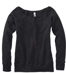 Collegehill — bella slouchy fleece black tri