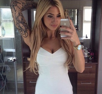 dress white dress summer dress style girly girly dress white crop tops black dress tattoo