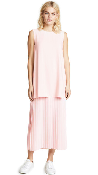dress pleated dress pleated blush