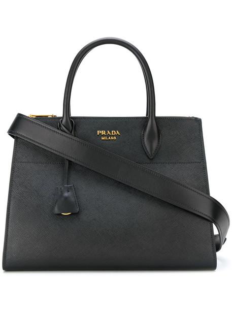 Prada women bag tote bag leather black
