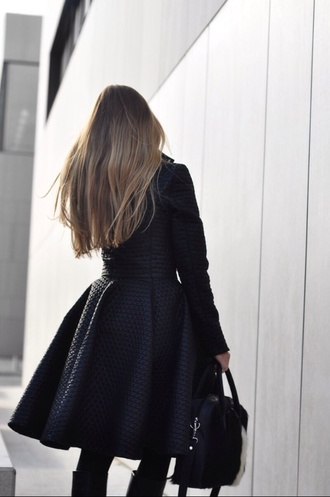 style black coat waist slim coat blake lively gossip girl classy classy coat wool coat cozy coat chic coat instagram instagramfashion tumblr outfit
