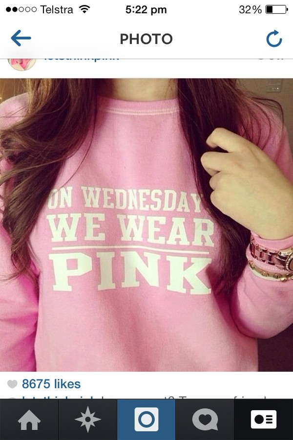 sweater quote on it pink mean girls movies