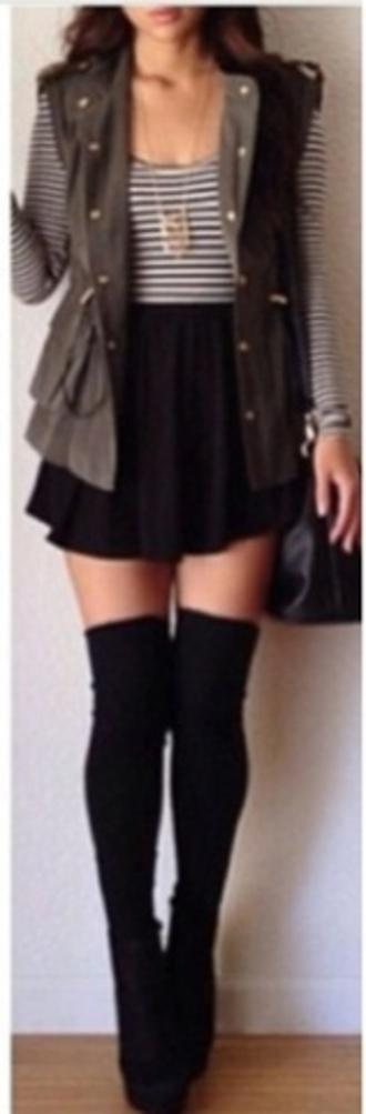 jacket jewels shoes socks tights sweater coat skirt