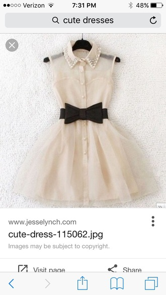 dress mini dress cream dress belted dress cute dress