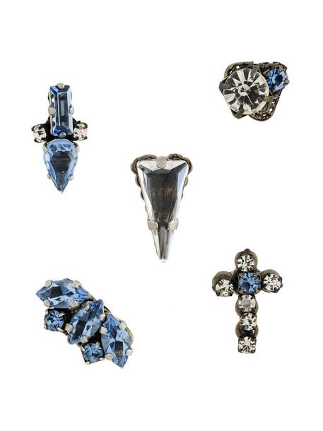 RADÀ women plastic earrings blue jewels