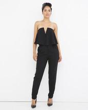 jumpsuit,black,black jumpsuit,peplum,peplum jumpsuit