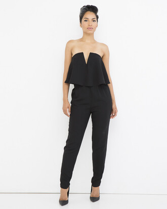jumpsuit black black jumpsuit peplum peplum jumpsuit