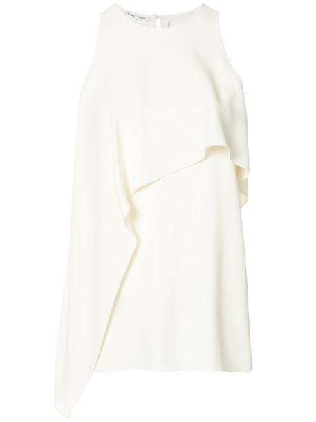 Helmut Lang top sleeveless women white silk