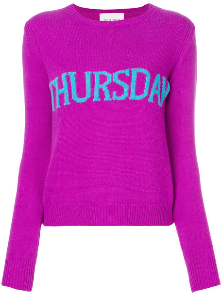 Alberta Ferretti jumper women wool purple pink sweater