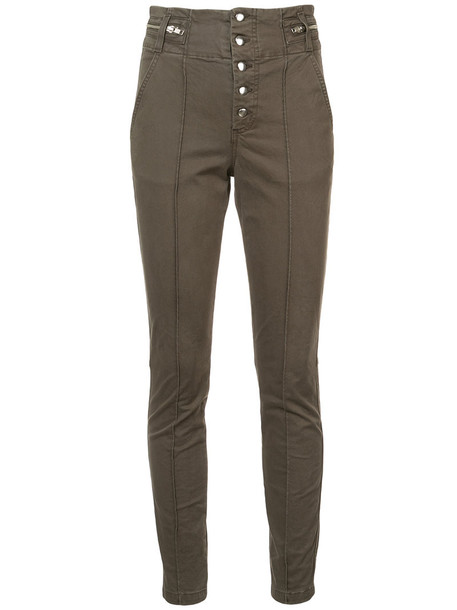 A.L.C. women spandex cotton green pants