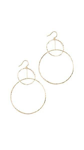 Gorjana Interlocking Large Circle Drop Earrings