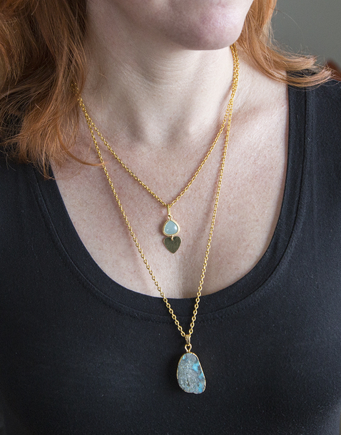 jewels stone turquoise jewelry boho jewelry layering necklace