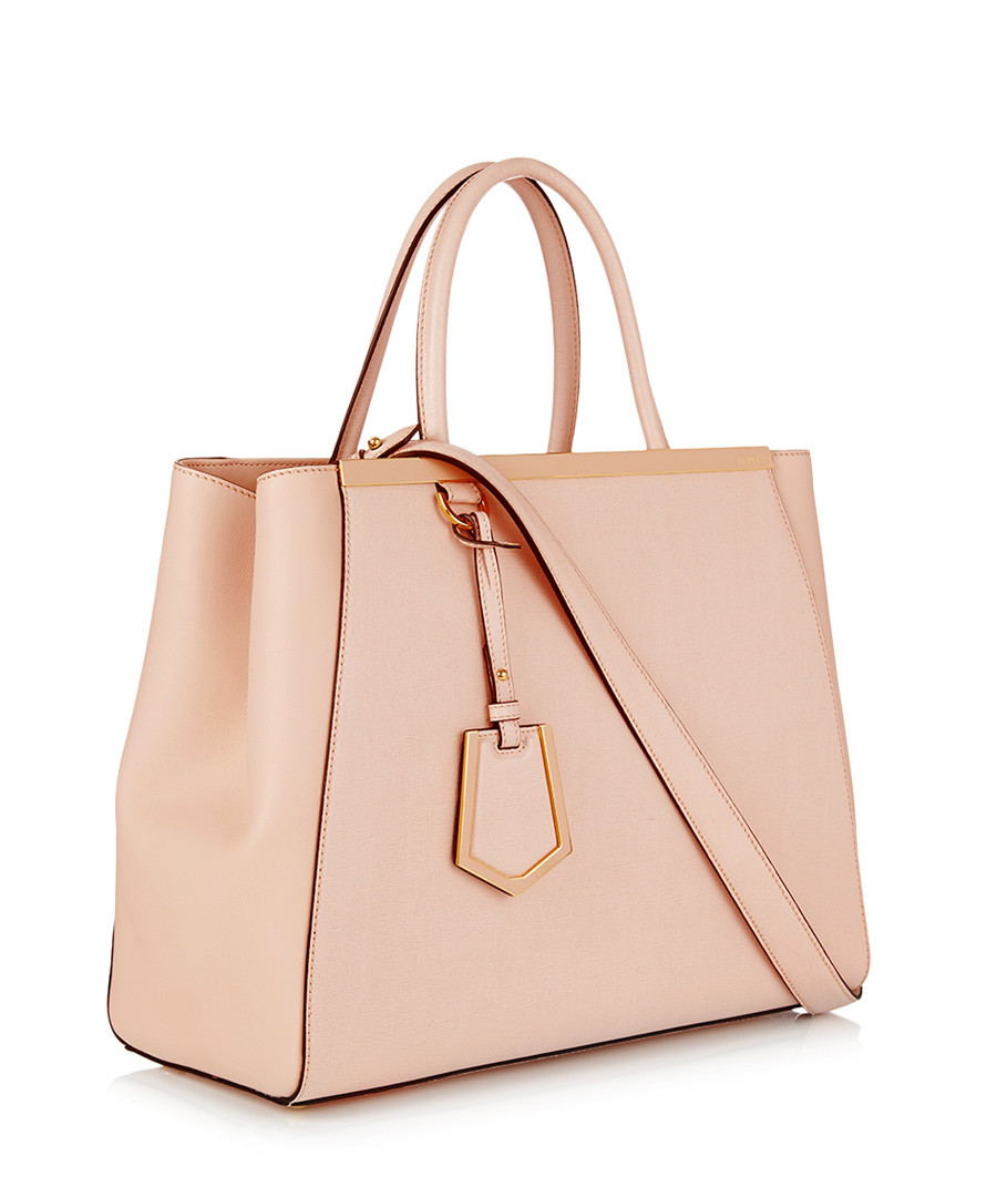 off - Fendi 2Jours pink leather tote bag, Designer Bags Sale ...